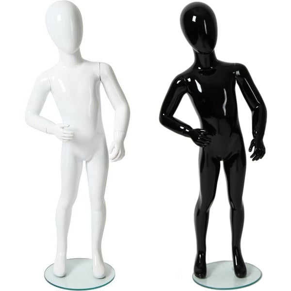 "AFD-032 Glossy Abstract Egghead Children's Mannequin 3' 10"" - DisplayImporter"