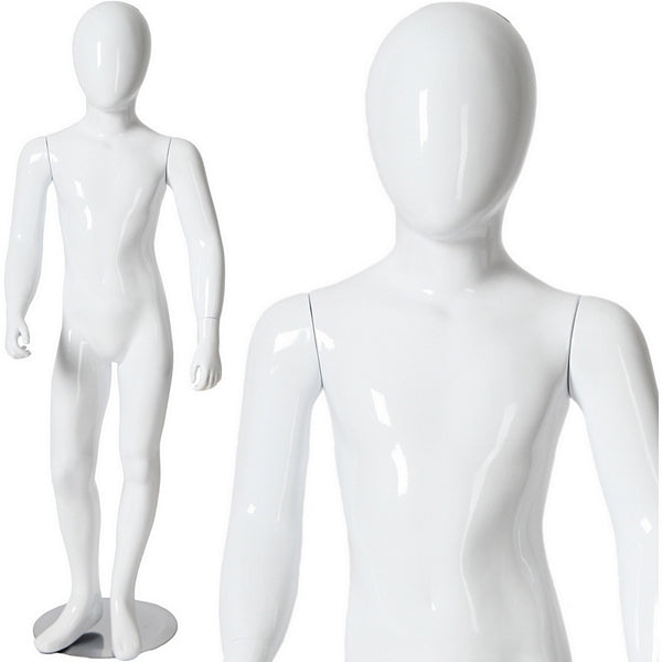 "AFD-035 Glossy Abstract Egghead Children's Mannequin 4' 1"" - DisplayImporter"