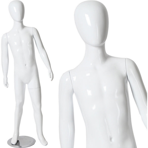 "AFD-037 Glossy Abstract Egghead Children's Mannequin 4' 8.5"" - DisplayImporter"