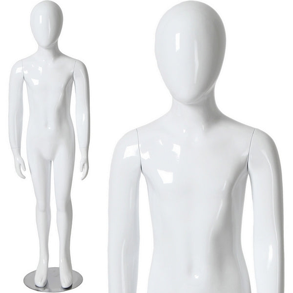 "AFD-038 Glossy Abstract Egghead Children's Mannequin 4' 4"" - DisplayImporter"