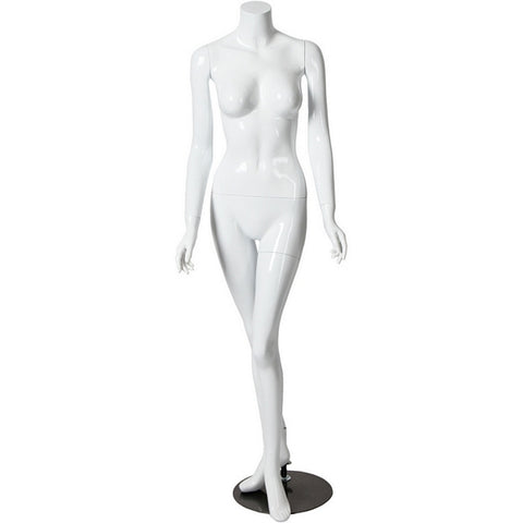 AFD-054 Glossy Female Headless Mannequin - DisplayImporter