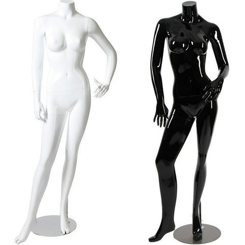 AFD-055 Glossy Female Headless Mannequin - DisplayImporter