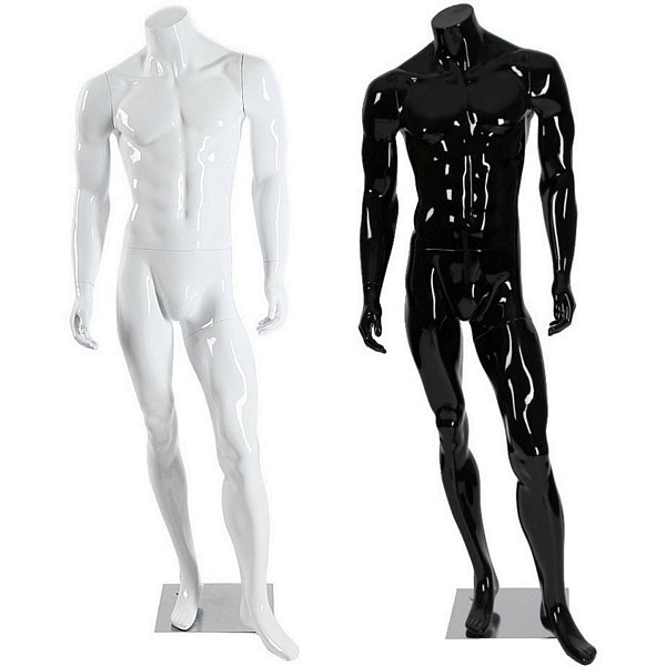 AFD-061 Glossy Male Headless Mannequin - DisplayImporter