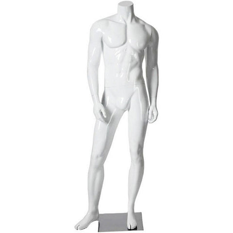 AFD-062 Glossy Male Headless Mannequin - DisplayImporter