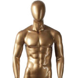 AFD-080 Glossy Male Abstract Egghead Standing Mannequin - DisplayImporter
