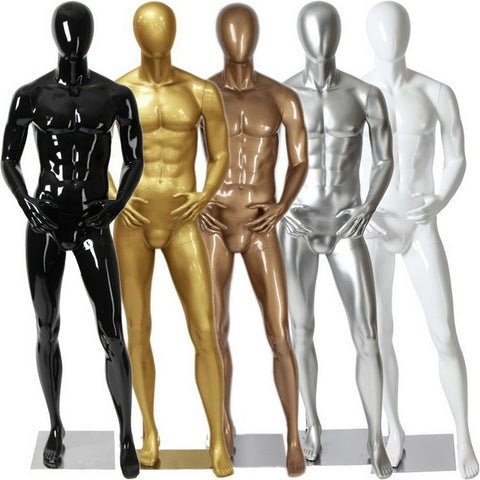 AFD-081 Glossy Male Abstract Egghead Standing Mannequin - DisplayImporter
