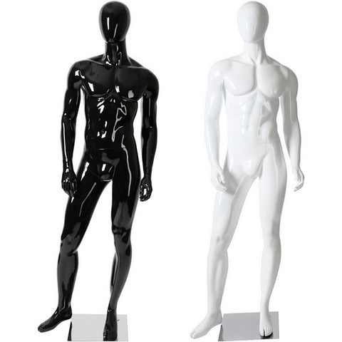 AFD-083 Glossy Male Abstract Egghead Standing Mannequin - DisplayImporter