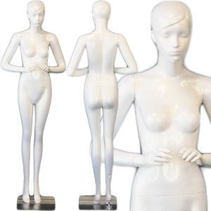 AFD-SHF20 Ladies Full Size Standing Glossy Pearl White Mannequin - Rye - DisplayImporter