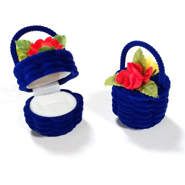 BX-028 Flower Basket Velvet Ring Box