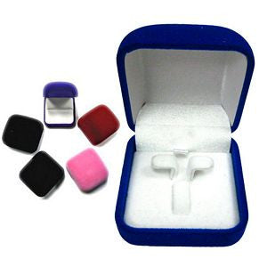 BX-031er Square Velveteen Box - Stud Earrings and Ring Insert  - DisplayImporter.com