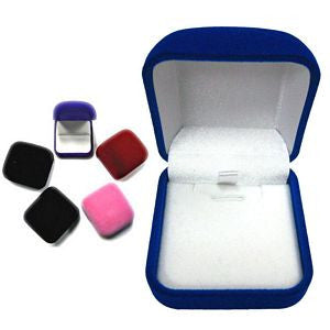 BX-031n Square Velveteen Box - Pendant Necklace Insert - DisplayImporter