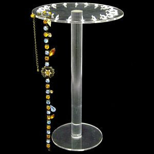 DS-019 Clear Circular Hanging Bracelets/Necklaces Jewelry Display - DisplayImporter