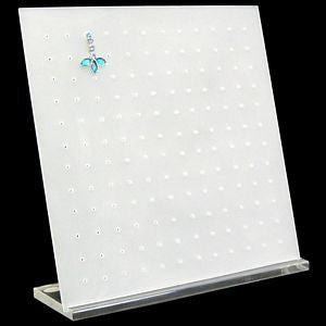 DS-023 Frosted Clear Square Earrings Display Stand - DisplayImporter