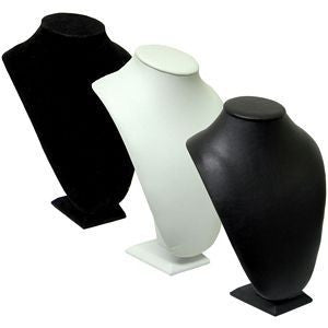 DS-035 Plush Bust Leatherette/Velvet Display - DisplayImporter