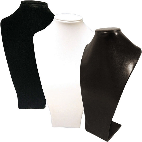 DS-036 Long Bust Leatherette/Velvet Jewelry Display for Necklaces, Pendant - DisplayImporter