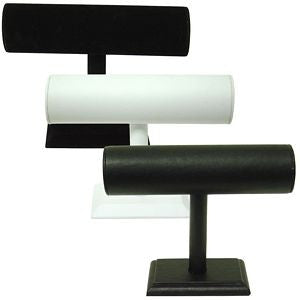 "DS-041 Small ""T"" Bar Leatherette/Velvet Display - DisplayImporter"