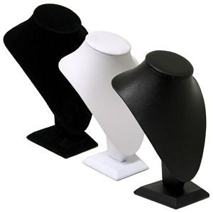 DS-066 Medium Bust Leatherette/Velvet Jewelry Display for Necklaces, Pendant - DisplayImporter