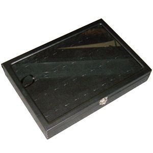 DS-090 Ring/Pendant Display Tray with Clear Glass Top  - DisplayImporter.com