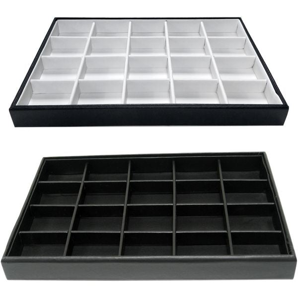 DS-140 Large Items 20 Compartments Jewelry Organizer Display Tray