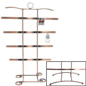 DS-146 4 Tier Antiqued Copper Tone 42 Pair Earring & Bracelet/Necklace Stand - DisplayImporter