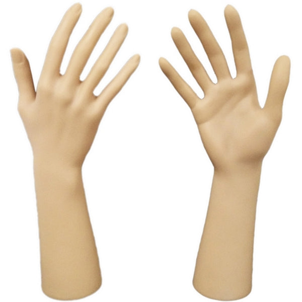DS-186 Fleshtone Upright Glove and Jewelry Display Hand - DisplayImporter