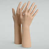DS-186 Fleshtone Female Upright Glove, Rings, and Jewelry Display Hand - DisplayImporter