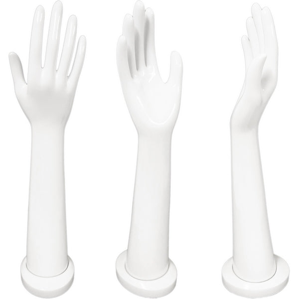 DS-188 Tall Glossy White Glove and Jewelry Display Hand