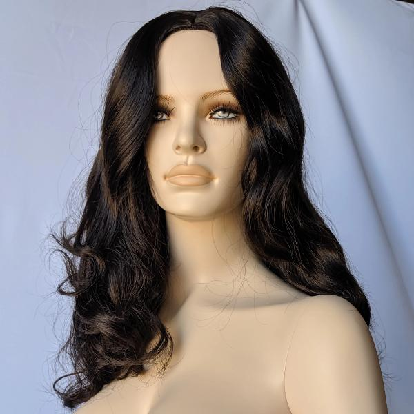 WG-201 Long Black Luscious Wavy Curly Female Wig - DisplayImporter