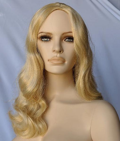 WG-200 Long Blonde Luscious Wavy Curly Female Wig - DisplayImporter