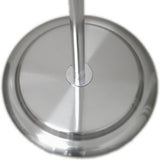 MA-002 Round Dress Form Base in Brushed Chrome Finish with Pole