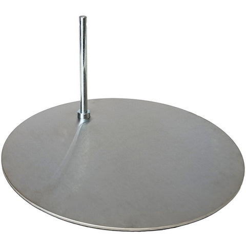 "MA-013 Silver-Toned Round Base for Mannequin with 0.5"" D Sole-Rod - DisplayImporter"