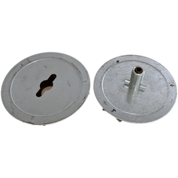 MA-019 Mannequin Leg Metal Flange Connector Plates - DisplayImporter