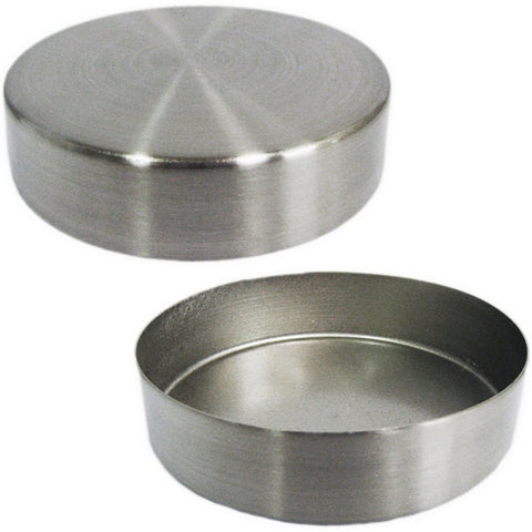 "MA-029 Replacement Brushed Chrome 3-7/16"" Round Metal Neck Cap for Dress Forms (fits MN-025/MN-602) - DisplayImporter"