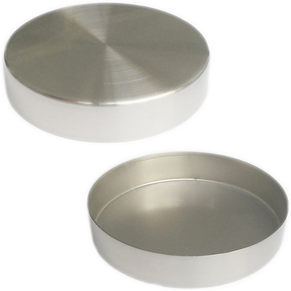 "MA-037 Replacement Brushed Chrome 4"" Round Metal Neck Cap for Dress Forms (fits MN-113/MN-603) - DisplayImporter"