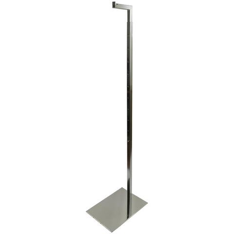 "MA-044 51""-77"" Chrome Metal Costumer Display Stand for Hanging Forms - DisplayImporter"