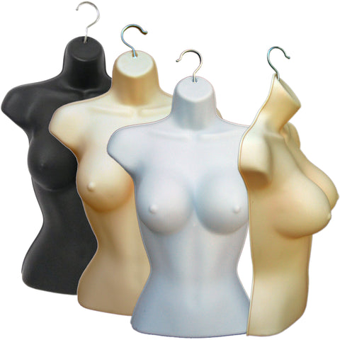 MN-010 Busty Female Heavy Duty Injection Mold Hanging Torso Form - DisplayImporter