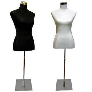 MN-025 Female Jersey Covered Dress Form Mannequin with Base
