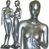 MN-027 Ladies Full Size Mannequin Silver - DisplayImporter.com - 3