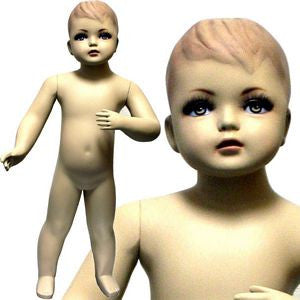 "MN-034 Standing Baby Fleshtone Mannequin 2' 5""  - DisplayImporter.com"