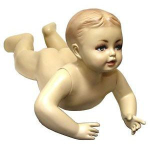 MN-037 Crawling Tummy Time Baby Toddler Fleshtone Mannequin - DisplayImporter