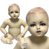 MN-038 Sitting Baby Toddler Fleshtone Mannequin - DisplayImporter