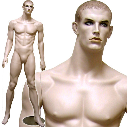 MN-072 Men's Full Size Standing Masculine Mannequin - DisplayImporter