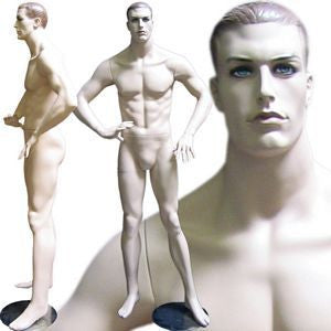 MN-109 Men's Full Size Standing Masculine Mannequin  - DisplayImporter.com - 1