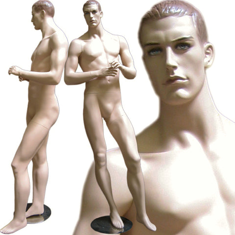 MN-111 Male Full Body Standing Masculine Realistic Head Male Mannequin - DisplayImporter