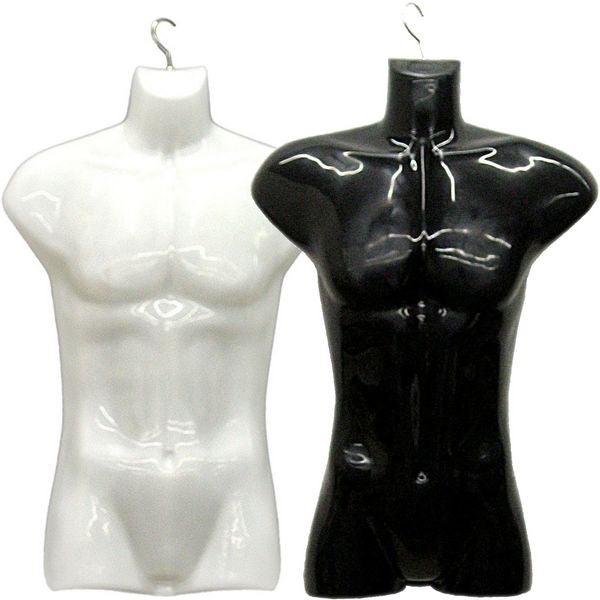 MN-116 Male Injection Mold Hanging Torso Form - DisplayImporter