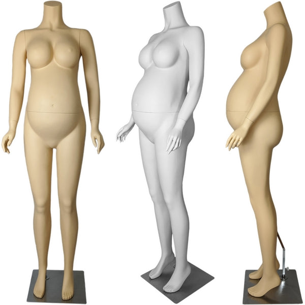 MN-129A Headless Pregnant Maternity Female Mannequin