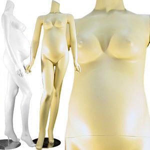 MN-129 Full Size Headless Pregnant Female Mannequin  - DisplayImporter.com - 1