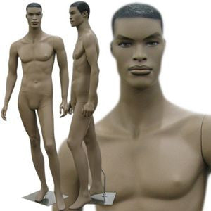 MN-140 African American Male Fashion Mannequin with Molded Hair  - DisplayImporter.com - 1