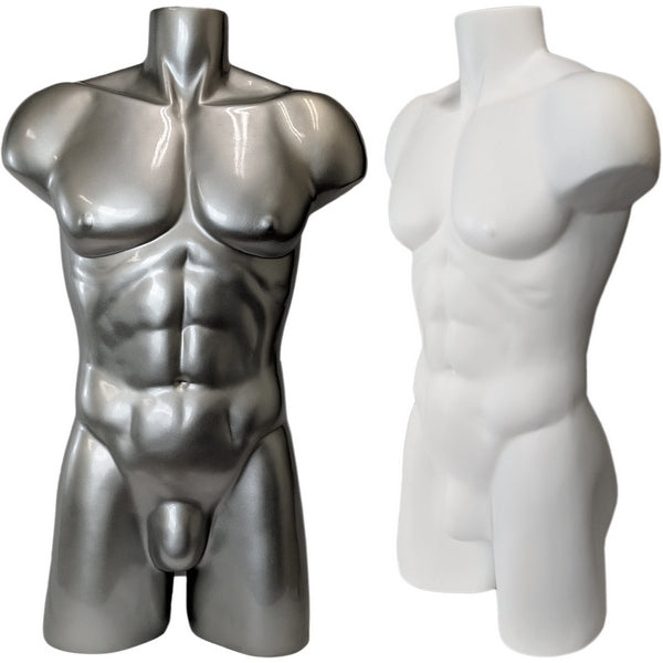 MN-149A Freestanding Muscular Male Upper Torso Mannequin Form - DisplayImporter