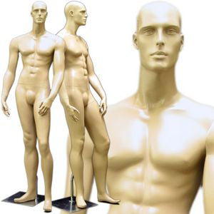 MN-158 Standing Masculine Male Mannequin with Base Fleshtone - DisplayImporter.com - 2